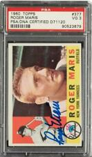 Roger Maris, Yankees, Signed - Autographed 1960 Topps Card #377 PSA/DNA, D71120