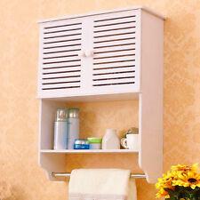 Bathroom Cabinet Wall Mounted Double Shutter Door Storage Cupboard Furniture NEW