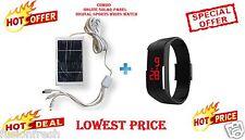 Combo Onlite Solar Panel Charger 3 Socket Digital Sports Ultra Thin Wrist Watch