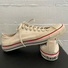 Vintage Converse Chuck Taylor Made In Usa White Canvas Low Men's 12