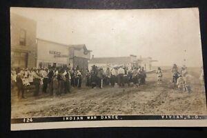 Indian War Dance VIVIAN SD South Dakota Real Photo Postcard (403A)