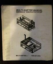 Multi - shifter Parts Manual