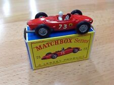 Matchbox Lesney Ferrari F1 Racing Car 73 white driver