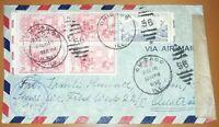 Alliierte Zensurstelle Z. 1 238 Brief Chicago USA 1952 Besetzung Österreich (80