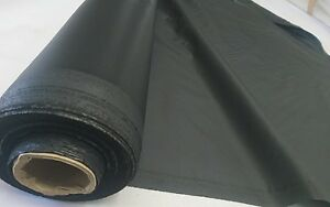 5oz* - BLACK - WATERPROOF NYLON FABRIC - AWNINGS COVERS & MORE - 150cm wide