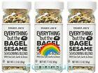 3 Packs Trader Joe's Everything but The Bagel Sesame Seasoning Blend 2.3 oz Each