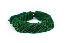 Translucent Dark Green Afghani Tribal Seed Beads 2mm Afghanistan Glass