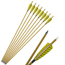 12PK Archery 30/'/' Carbon Arrow Bolts Turkey Feathers Shaft For Longbow Hunting