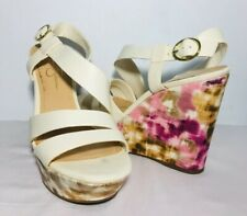 "Jessica Simpson Claria Sandals Size 9 B Women's Multicolor Wedge 4"" High Strappy"