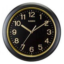 NEW Casio IQ-59-1D Wall CLOCK Analog Japan Quartz BLACK & GOLD IQ59-1D w/BATTERY