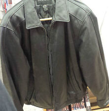 Croft and Barrow Black Leather Jacket Coat Size M