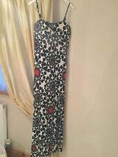 Spotted Regular Size Sleeveless Maxi Dresses for Women