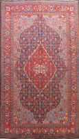 Vintage Hand-knotted Traditional Geometric Area Rug Living Room Oriental 7'x11'
