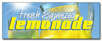 "24"" LEMONADE DECAL sticker stand fresh squeezed lemon supplies stand trailer"
