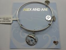 Alex and Ani Dolphin III Bangle Bracelet Color Infusion Rafaelian Silver NWTBC