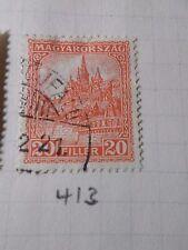 HONGRIE 1928, timbre CLASSIQUE 413, CATHEDRALE, oblitéré, VF CANCEL STAMP