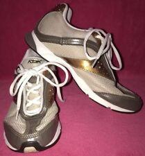 ☆REEBOK! Women's-(6) DMX Foam GOLD/WHITE Leather ATHLETIC Sneakers TENNIS Shoes☆