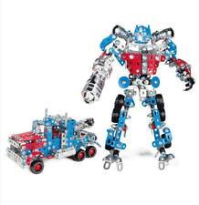 Iron Commander DIY Assembled Robot Car Model Metal Optimus Prime Scale Blocks