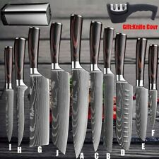 Kitchen Chef Knife Stainless Steel Japanese Damascus Pattern Sharp Cleaver Knife