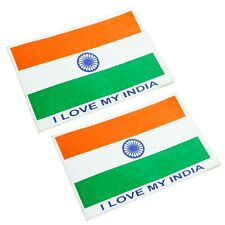 I Love My India Flag Sticker Emblem Set Of 2 For Motorcycle Universal fit