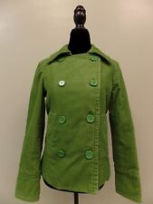 Gap Corduroy Jacket Button Front Lined Cotton Green Women's Size Small Cute!
