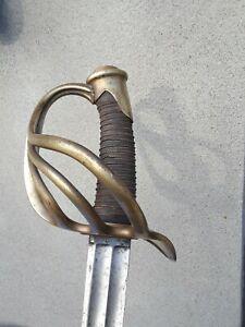French 1854 Heavy Cavalry Trooper Sword Older Blade European Sabre