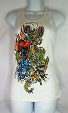 BEJEWELED WHITE TANK TOP SIZE LARGE