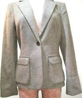 NWT MAX STUDIO Women's Size 10 Brown Tweed Jacket One Button Career Blazer $198