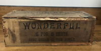 Vintage Cigar Box Wonderful Brand 5 For 5 Cents Hand Made Cigars