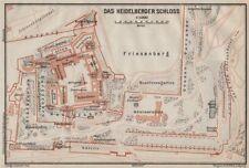 Fine Mainz Vintage Town City Stadtplan Mayence Karte 1926 Map Rhineland-palatinate