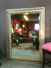 Glace / miroir rectangulaire argenté avec glace biseautée 108 x 77 cm
