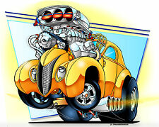 #JPHR15 Hot Rod T Shirt Radical Blown Gas Willys Coupe