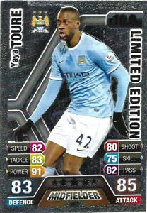 MATCH ATTAX EXTRA 2013/14 YAYA TOURE SILVER LIMITED EDITION LE1S