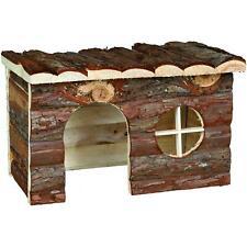 Trixie Natural Living Jerrik Wood House for Chinchillas/Guinea Pigs - 28x16x18cm