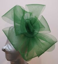 bottle dark green fascinator headband headpiece wedding party race ascot bridal