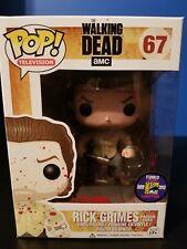 Funko Pop The Walking Dead Rick Grimes Prison Yard SDCC 2013 #67 Rare NIB Bloody
