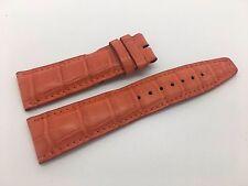 Brand New IWC Orange Leather Alligator Style Band Strap for Portuguese Chrono