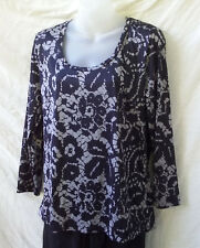 Taking Shape ts Size XS 14 NEW Top Long Slv Stretch Work Casual Evening FREEPOST