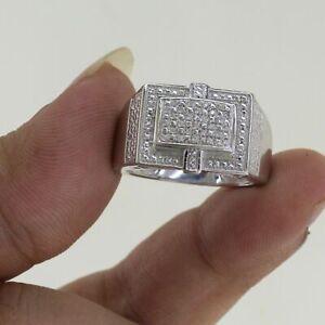 2.9Ct Diamond Luxurious Engagement Breathtaking Men's Modern Ring 14K White Gold