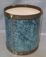 "Unbranded Vintage Single Tall 8 1/2"" Drum Blue Junior Kid's Children Home Decor"