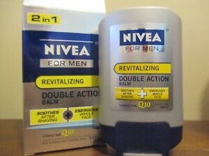 NIVEA For Men Revitalizing Double Action 2 in 1  Shave Balm Q10 3.3 fl. oz