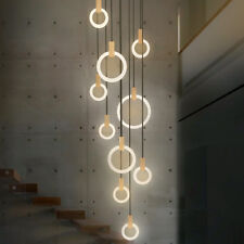 Long LED Chandelier Pendant Lights Modern, Stairwell, Living, Dining Fixture
