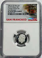 2019 S PROOF SILVER ROOSEVELT DIME LIMITED EDITION SET NGC PF70 ULTRA CAMEO