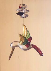 HUMMINGBIRD GLASS HANGING ORNAMENT HANGING DECORATION SUNCATCHER