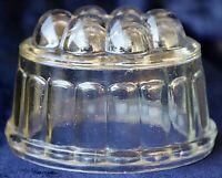 Vintage Art Deco 1930's Depression Glass Jelly Mold 13cm x 9cm 9.5cm high