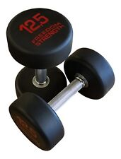 Classic Round Rubber Dumbbells (Pairs) for strength, training , crossfit
