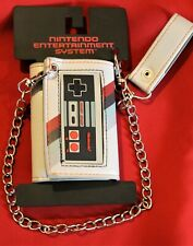 New Retro Nintendo Gaming System Classic Controller Tri Fold Wallet And Chain