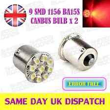 LED SMD BA15S P21W 1156 XENON 12V Rosso Coda Luce Lampadine Canbus x 2