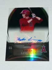 TAYLOR LINDSEY 2010 Bowman Sterling BLACK Refractor AUTO #16/25 Autograph Angels