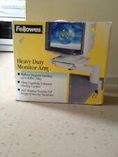 Heavy Duty Monitor Arm Fellowes 360 Rotation, 80lbs Max 13x13 New In Box! Nice !